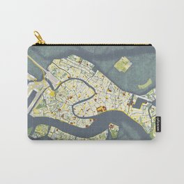Venice city map antique Carry-All Pouch