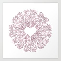 Love Lace Art Print