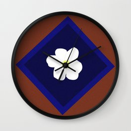 White blossom in my heart Wall Clock