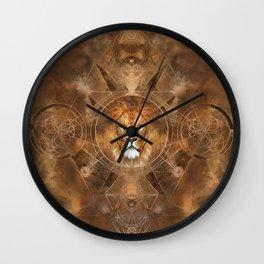 Lion Sacred Geometry Digital Art Wall Clock