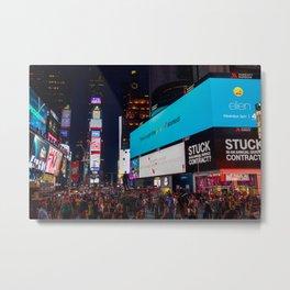 Iconic Time Square Metal Print