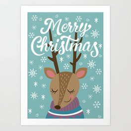 Merry xmass Art Print