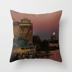 Moonrise in twiligh. Throw Pillow