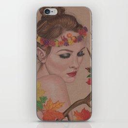 Autumn Girl iPhone Skin