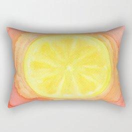 Acid Lemon Rectangular Pillow