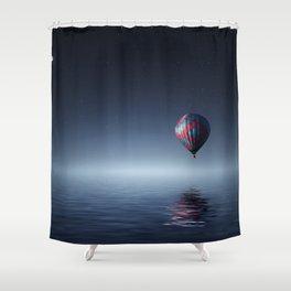 Hot Air Balloon Reflection Shower Curtain