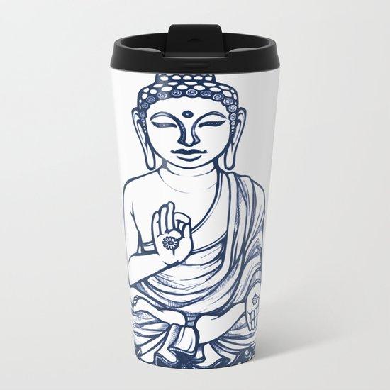 Varada Buddha (namaste) Metal Travel Mug