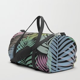 Layered Palms - Black Duffle Bag