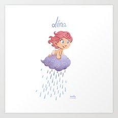 Léna (drawn by Karim Friha) Art Print
