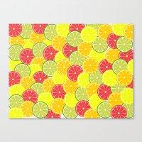 Summer fruits Canvas Print