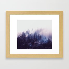 Misty Space Framed Art Print