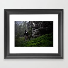 searching inspiration  Framed Art Print