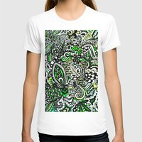 green pattern T-shirts featuring Green Pattern by Marcela Caraballo