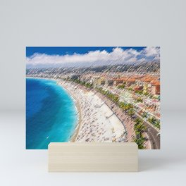 The French Riviera Landscape Painting by Jeanpaul Ferro Mini Art Print