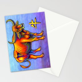 Chinese Zodiac Year of the Ox Colorful Bull Stationery Cards