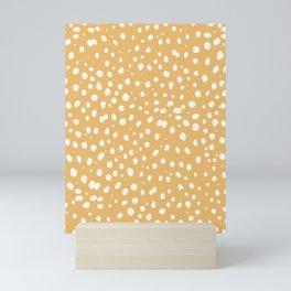 LEOPARD YELLOW Mini Art Print