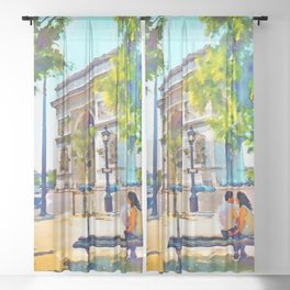 The Arc de Triomphe Paris Sheer Curtain