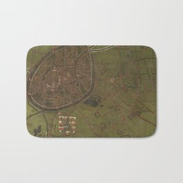 Old Map Of Bruges, Belgium Bath Mat
