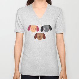 Dogs Love Bones I Unisex V-Neck