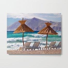 Wave Sea Metal Print