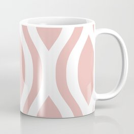 Pretty Ogee Pattern 374 Dusty Rose Coffee Mug
