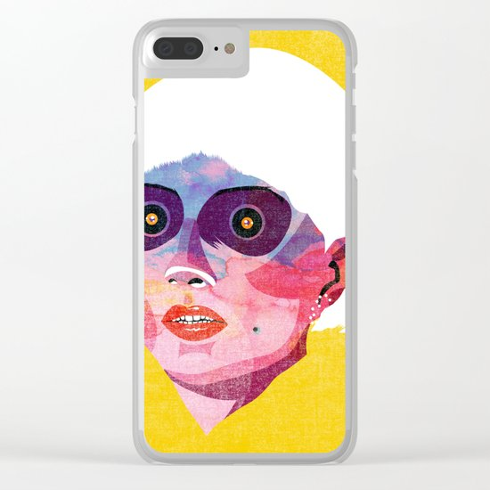 head_121213 Clear iPhone Case