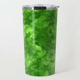 Dark pastel variegated green stars in the projection. Travel Mug