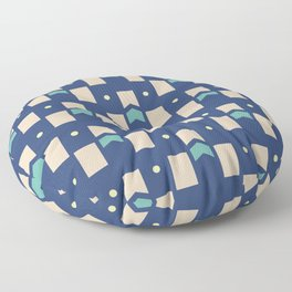 Art Deco Geometric Pattern 272 Floor Pillow