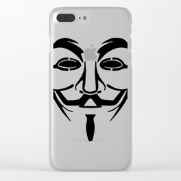 Anonymous Vendetta Clear iPhone Case