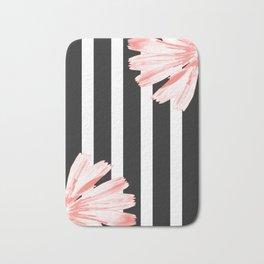 Cichoriums on stripes Bath Mat