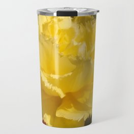 Sunny Yellow Tulip Travel Mug