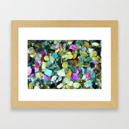 Colorful Gems Framed Art Print