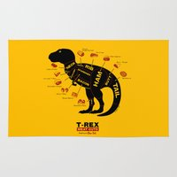 dino Area & Throw Rugs featuring Dino Deli by victor calahan