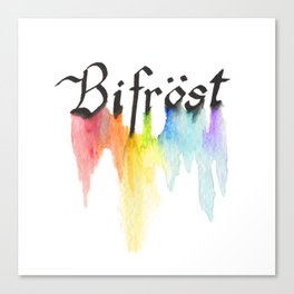 Bifrost the road to Valhalla Canvas Print