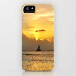 Sailing away to infinity. iPhone Case