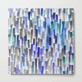 blue brushstrokes Metal Print