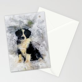 Border Collie Puppy Stationery Cards