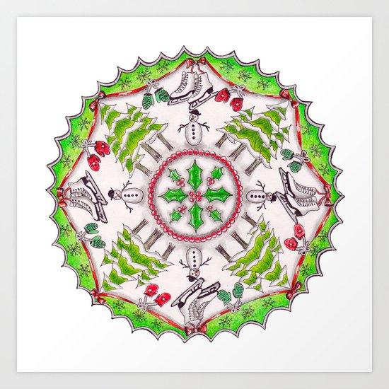 Winter Wreath Mandala by katealli