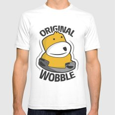Original Wobble Mens Fitted Tee White SMALL