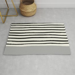 Storm Grey x Stripes Rug