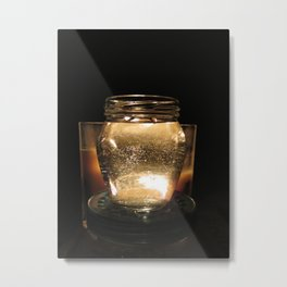 Chiaroscuro with Candle and Water Metal Print