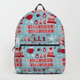 winter gear blue Backpack