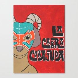 Luchamals Series- La Cabra Corajuda Canvas Print