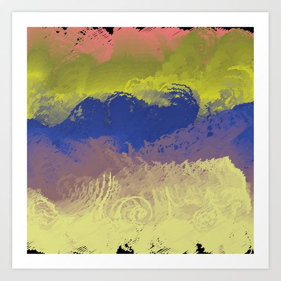 Vector Paint Abstract Art Art Print