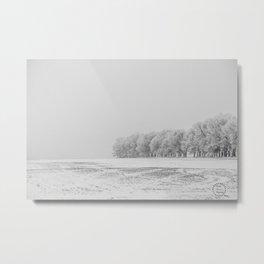 Foggy Frosty North Dakota 13 Metal Print
