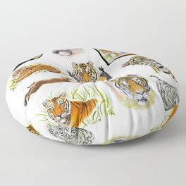 Big Cat Sticker Pack 1 Floor Pillow