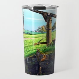 Old fountain under the plum tree | landscape photography Travel Mug