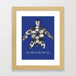 Sea Turtles for Safe Sex Framed Art Print