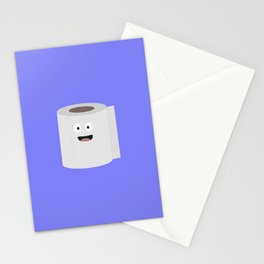 Toilet paper with face Stationery Cards