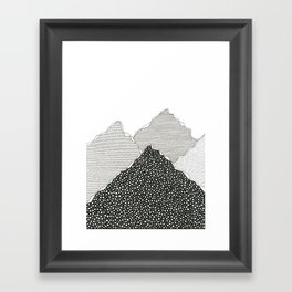 Snow Mountains Framed Art Print